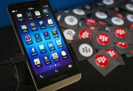 A Blackberry Z10 handset is seen at the Fairfax Holdings annual general meeting for shareholders in Toronto