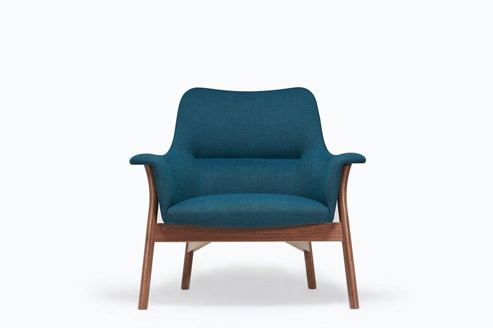 """<p>Having scooped up a prestigious Design Guild Mark, Dare Studio's 'Oxbow' lounge chair has the makings of a future classic. Designed by Namon Gaston, the piece is crafted from steam-bent timber and oak, and upholstered in UK-made wool by Mourne Textiles and Eleanor Pritchard Studio. From £2,400, <a href=""""https://www.darestudio.com/"""" rel=""""nofollow noopener"""" target=""""_blank"""" data-ylk=""""slk:darestudio.com"""" class=""""link rapid-noclick-resp"""">darestudio.com</a></p>"""
