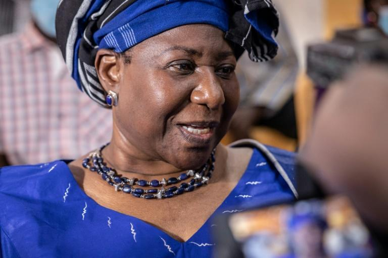 'Day of truth': Sankara's widow Mariam attended the opening of the trial (AFP/OLYMPIA DE MAISMONT)