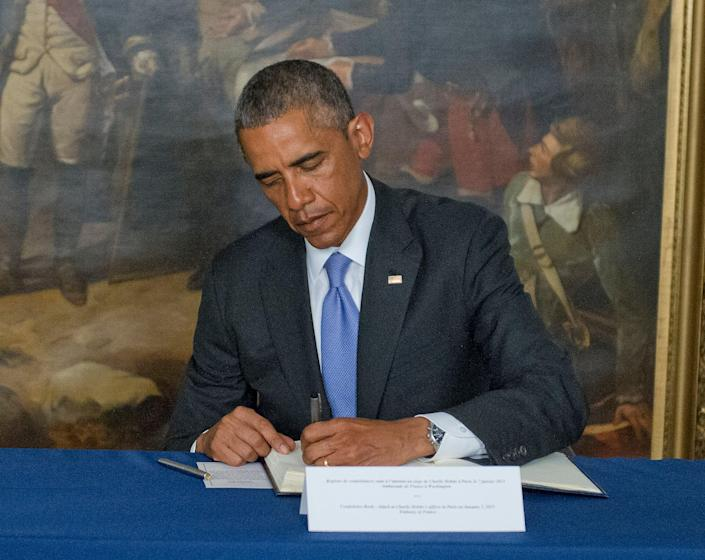 <p>Mr Obama has split his presidential memoir into two volumes, the first of which, a 701-page behemoth, hit shelves on Tuesday</p> (Getty Images)