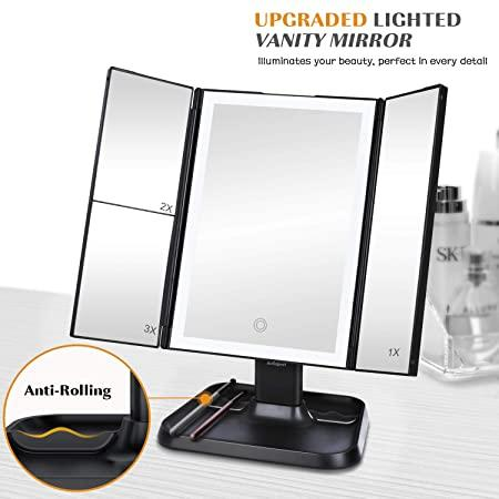 "<h2>AirExpect Makeup Mirror<br></h2><br><br>When Zoom's ""touch up my appearance"" feature simply isn't enough, you've gotta break out the big guns to get your face video-call ready. This top-rated makeup mirror has four magnification zones and three different light settings, in addition to a 90-degree swivel. It's also compact enough to share a vanity space with your laptop, taking up about as much space as a magazine.<br><br><strong>AirExpect</strong> AirExpect Makeup Mirror, $, available at <a href=""https://www.amazon.com/Makeup-Mirror-Vanity-Lights-Magnification/dp/B0881FSLGR/ref=zg_bsms_beauty_45"" rel=""nofollow noopener"" target=""_blank"" data-ylk=""slk:Amazon"" class=""link rapid-noclick-resp"">Amazon</a>"