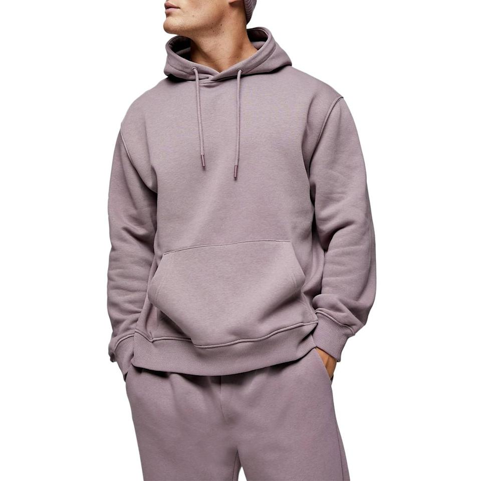 "Time to replace that cozy hoodie you ""accidentally"" stole from him. $45, Nordstrom. <a href=""https://www.nordstrom.com/s/topman-classic-oversize-hooded-sweatshirt/5758437"" rel=""nofollow noopener"" target=""_blank"" data-ylk=""slk:Get it now!"" class=""link rapid-noclick-resp"">Get it now!</a>"