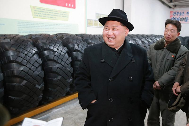 North Korean leader Kim Jong-Un -- shown here in an undated picture released by North Korea's official Korean Central News Agency (KCNA) on December 3, 2017 -- has sparked international fury with his dogged pursuit of a weapons program (AFP Photo/-)