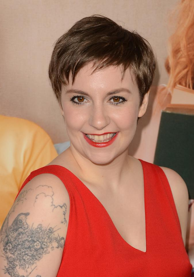 HOLLYWOOD, CA - DECEMBER 12:  Actress Lena Dunham attends the premiere Of Universal Pictures' 'This Is 40' at Grauman's Chinese Theatre on December 12, 2012 in Hollywood, California.  (Photo by Jason Merritt/Getty Images)