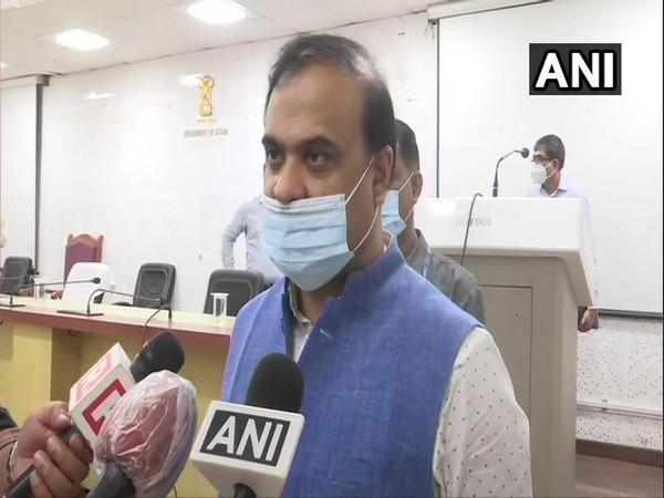 Assam Minister Himanta Biswa Sarma speaking to reporters on Friday. (Photo/ANI)