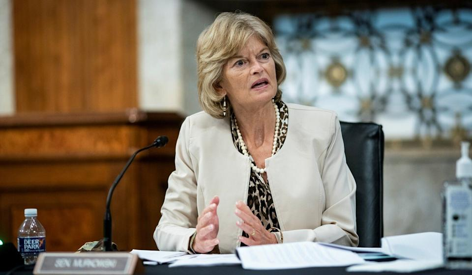 Senator Lisa Murkowski of Alaska is among the Republican lawmakers calling for Donald Trump to resign or be removed from office. Photo: Reuters