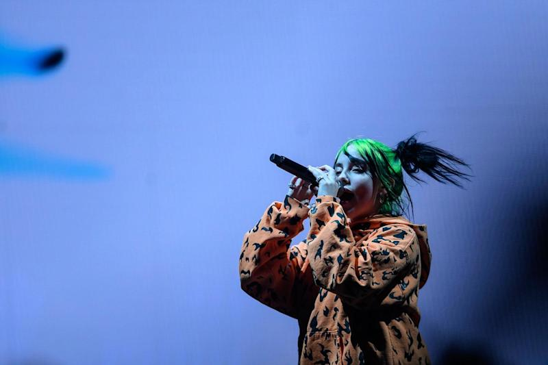 Billie Eilish has become the first women artist to top Spotify's annual wrapped list thanks to her album When we fall asleep, where do we go?: PEDRO PARDO/AFP via Getty Images