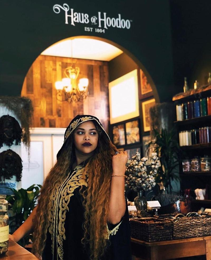 """Jessyka Winston, who founded the Haus of Hoodoo botanica in New Orleans, uses her social media platform to clear up misconceptions about Vodou and Hoodoo. (Photo: <a href=""""https://www.instagram.com/hausofhoodoo/"""" target=""""_blank"""">Haus of Hoodoo's Instagram Page</a>)"""