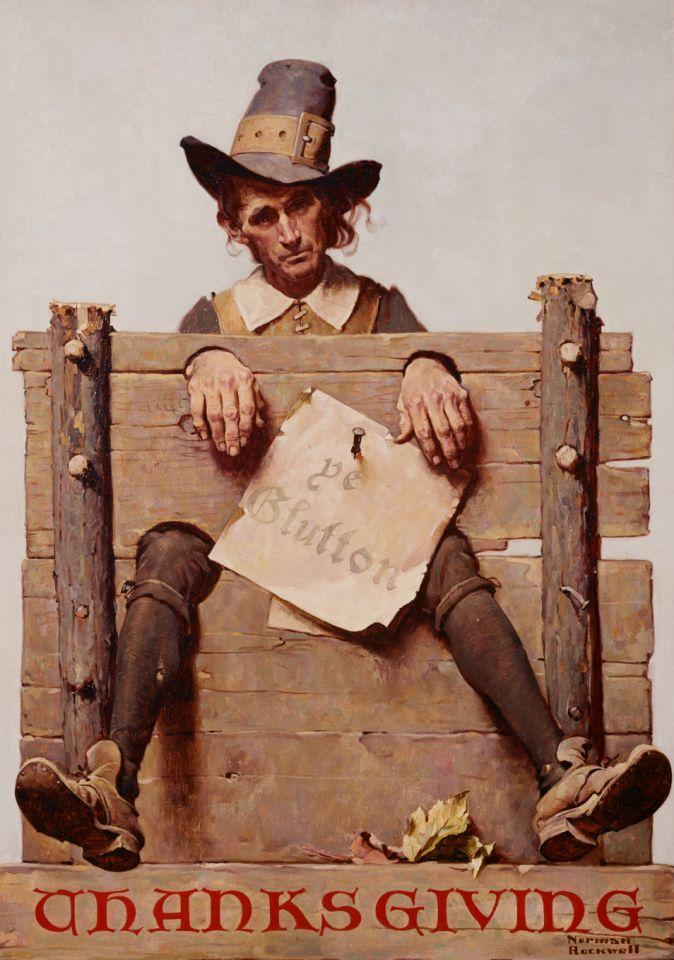 1923 — Pilgrim Illustration for LIFE Magazine by Norman Rockwell — Image by © Geoffrey Clements/Corbis