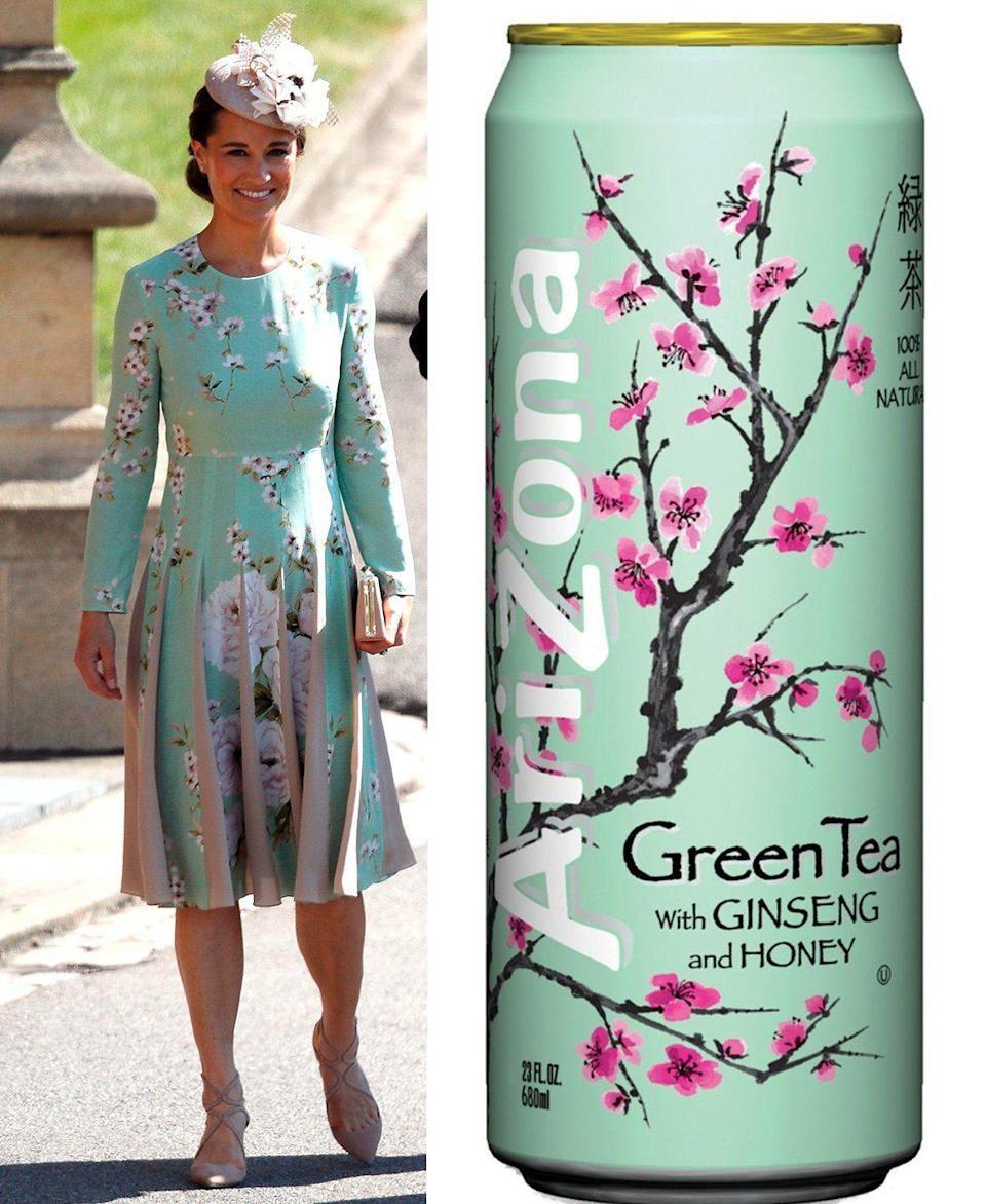 "<p>When the <a href=""https://www.goodhousekeeping.com/royal-family/"" rel=""nofollow noopener"" target=""_blank"" data-ylk=""slk:Duchess of Cambridge"" class=""link rapid-noclick-resp"">Duchess of Cambridge</a>'s younger sister arrived to the <a href=""https://www.goodhousekeeping.com/life/g20758205/royal-wedding-2018-recap/"" rel=""nofollow noopener"" target=""_blank"" data-ylk=""slk:Royal Wedding"" class=""link rapid-noclick-resp"">Royal Wedding</a> in 2018, her dress reminded countless people of their favorite beverage. To copy her (or Arizona's) look, wear a <a href=""https://go.redirectingat.com?id=74968X1596630&url=https%3A%2F%2Fwww.redbubble.com%2Fpeople%2Fsenorfiredude%2Fworks%2F31427732-vaporwave-arizona-iced-tea-aesthetic%3Fp%3Da-line-dress%26size%3Dmedium&sref=https%3A%2F%2Fwww.goodhousekeeping.com%2Fholidays%2Fhalloween-ideas%2Fg23549593%2Fmeme-costumes%2F"" rel=""nofollow noopener"" target=""_blank"" data-ylk=""slk:mint green dress"" class=""link rapid-noclick-resp"">mint green dress</a> with pink cherry blossoms and carry around a can of AriZona Green Tea.</p><p><a class=""link rapid-noclick-resp"" href=""https://go.redirectingat.com?id=74968X1596630&url=https%3A%2F%2Fwww.redbubble.com%2Fi%2Fdress%2FVaporwave-Arizona-Iced-Tea-Aesthetic-by-SenorFiredude%2F31427732.V4WQ8&sref=https%3A%2F%2Fwww.goodhousekeeping.com%2Fholidays%2Fhalloween-ideas%2Fg23549593%2Fmeme-costumes%2F"" rel=""nofollow noopener"" target=""_blank"" data-ylk=""slk:SHOP DRESS"">SHOP DRESS </a></p>"