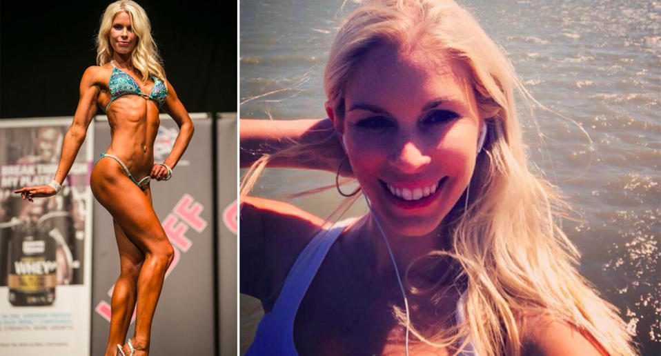 The 39-year-old bodybuilder had previously been given the all clear from pelvic cancer before tumours in her neck, back, liver and stomach were found. Source: Facebook/Gemma Sisson