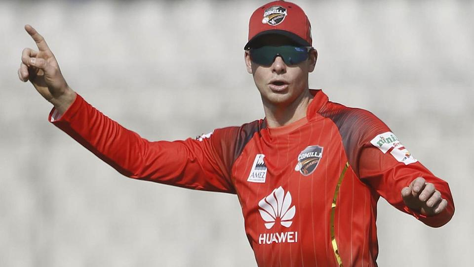 Steve Smith in Bangladesh. (Photo by STR/AFP/Getty Images)