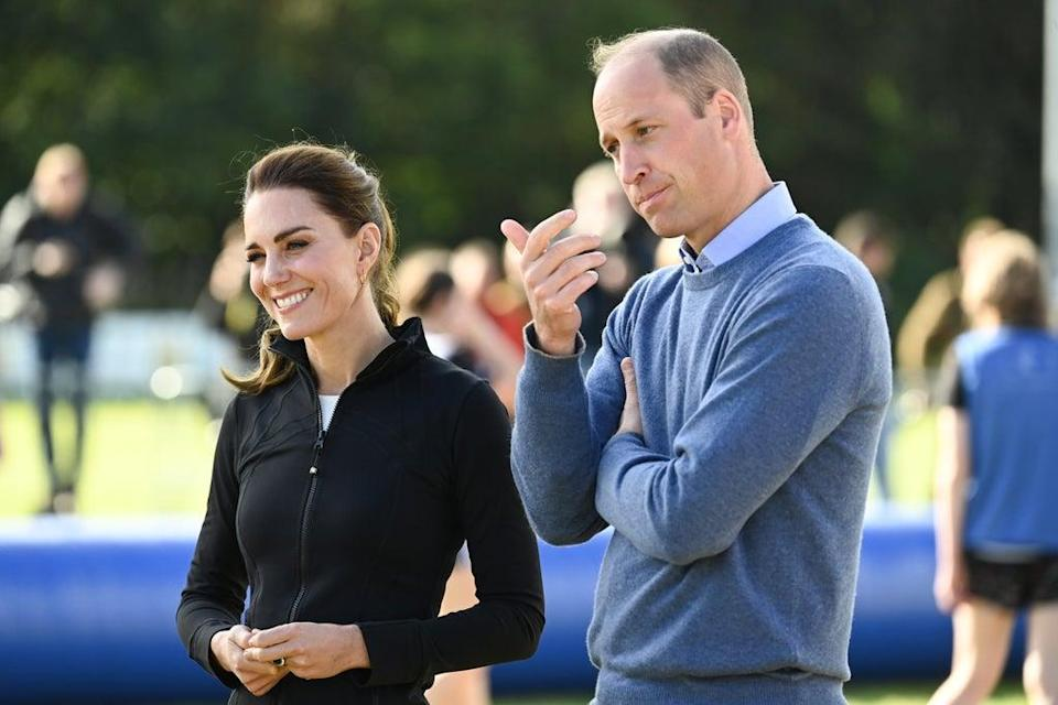 The Duke and Duchess of Cambridge during a visit to the City of Derry rugby club (Tim Rooke/PA) (PA Wire)