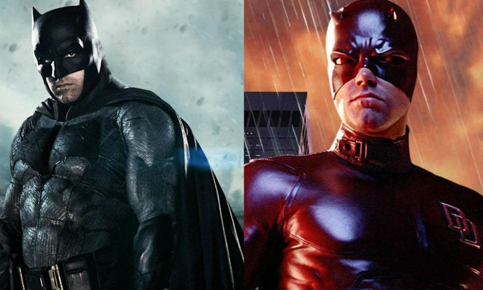<p>Ben played the Marvel Comics hero Daredevil before switching to DC and becoming Batman. </p>