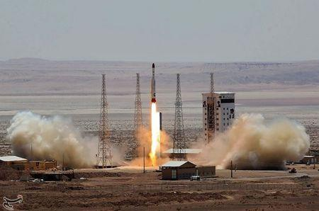 Simorgh rocket is launched and tested at the Imam Khomeini Space Centre, Iran