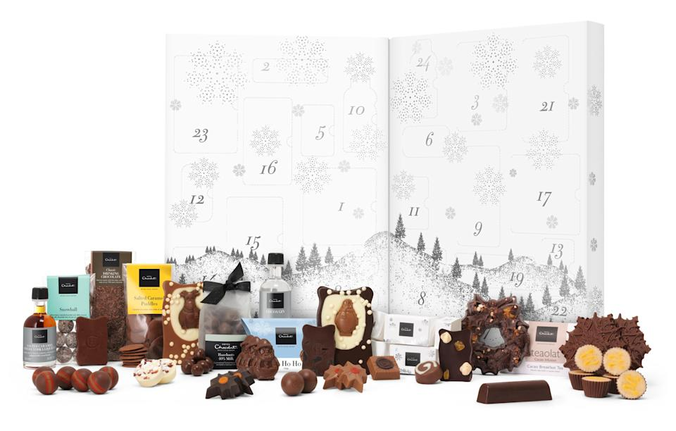 """<p>The ultimate calendar for any chocolate lover, Hotel Chocolat's biggest release this year is filled to the brim with cocoa-infused goodies from salted caramel vodka to pralines and treacle tarts.<br><a rel=""""nofollow noopener"""" href=""""http://www.hotelchocolat.com/uk/large-advent-calendar.html#start=4"""" target=""""_blank"""" data-ylk=""""slk:Hotel Chocolat, £68"""" class=""""link rapid-noclick-resp""""><i>Hotel Chocolat, £68</i></a> </p>"""