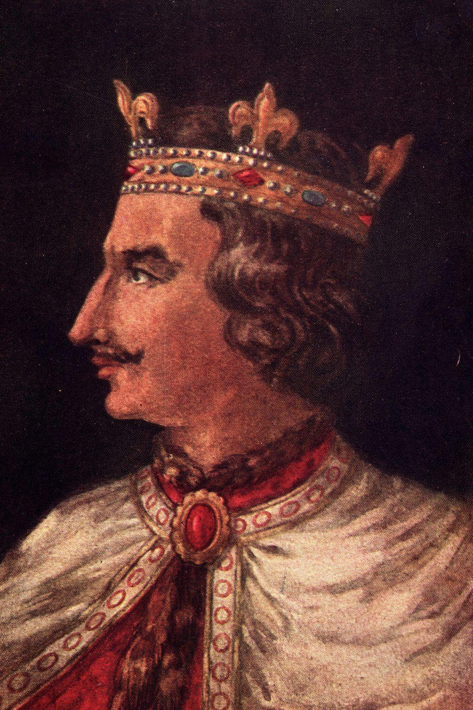 "<p>Robert FitzRoy, the <a href=""https://en.wikipedia.org/wiki/Robert,_1st_Earl_of_Gloucester"" rel=""nofollow noopener"" target=""_blank"" data-ylk=""slk:1st Earl of Gloucester"" class=""link rapid-noclick-resp"">1st Earl of Gloucester</a>, is one of the few confirmed illegitimate children of King Henry I. Henry I had only one legitimate daughter named Matilda but was said to have fathered at least <a href=""https://www.nytimes.com/1993/01/03/nyregion/the-royal-family-tree-sprouts-unofficial-limbs.html"" rel=""nofollow noopener"" target=""_blank"" data-ylk=""slk:22 other children"" class=""link rapid-noclick-resp"">22 other children</a> while not married. The surname <a href=""https://en.wikipedia.org/wiki/Fitzroy"" rel=""nofollow noopener"" target=""_blank"" data-ylk=""slk:FitzRoy"" class=""link rapid-noclick-resp"">FitzRoy</a> was often used by the illegitimate sons and daughters of a king or queen.</p>"