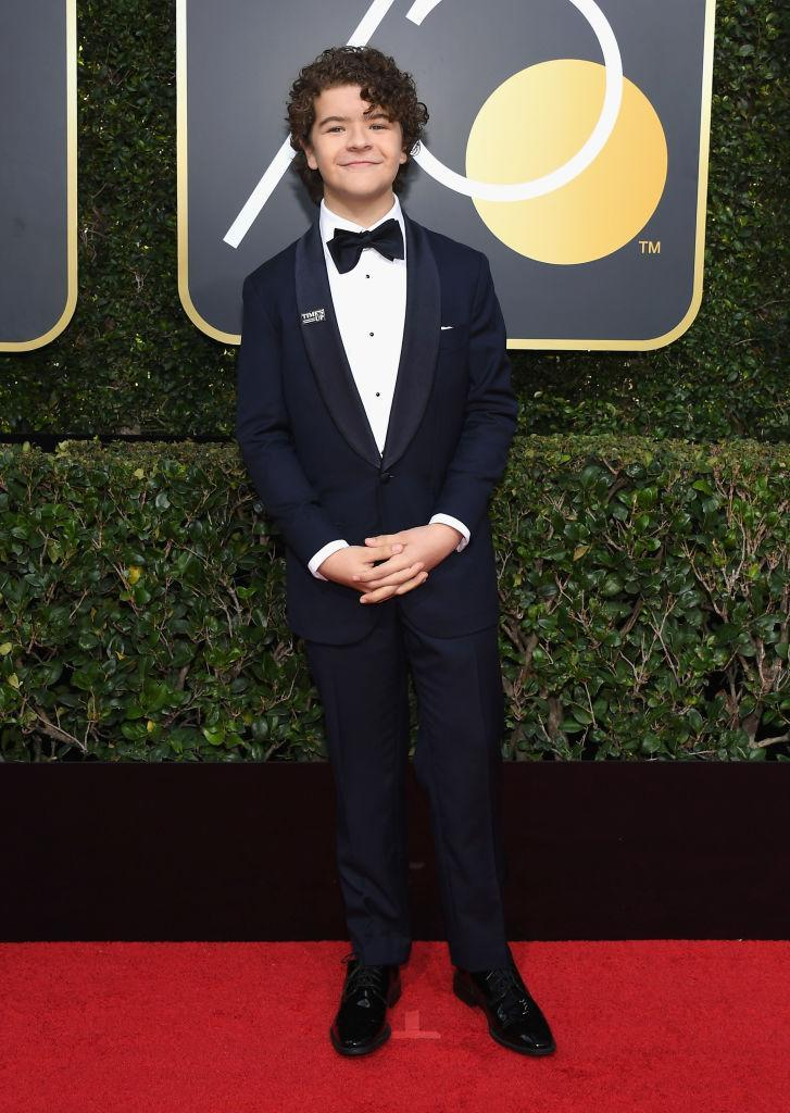 <p>The <em>Stranger Things</em> actor attends the 75th Annual Golden Globe Awards at the Beverly Hilton Hotel in Beverly Hills, Calif., on Jan. 7, 2018. (Photo: Steve Granitz/WireImage) </p>