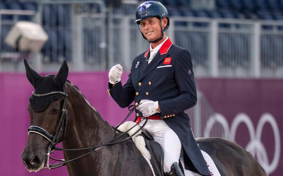 Carl Hester on En Vogue performing in the Dressage - Paul Grover for the Telegraph