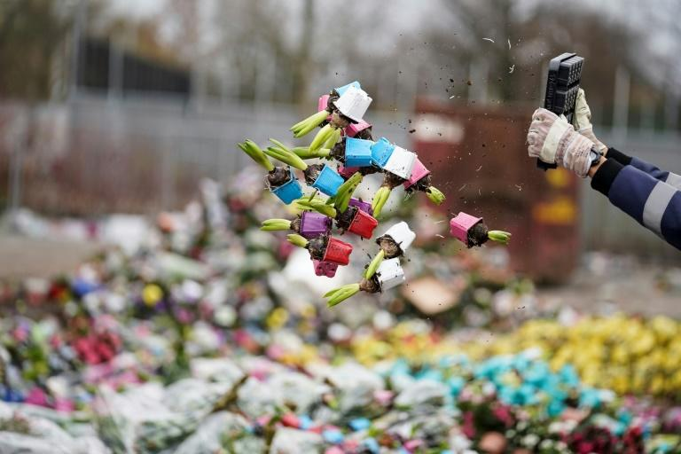 Mountains of flowers are being thrown away such as these at FloraHolland in Naaldwijk with the novel coronavirus having decimated sales