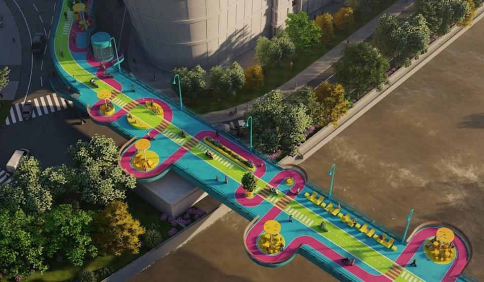 One of many super-colorful playgrounds in Shanghai designed by 100 Architects.