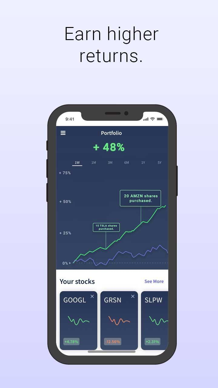 Get higher returns (our users average 48% over 6 months).