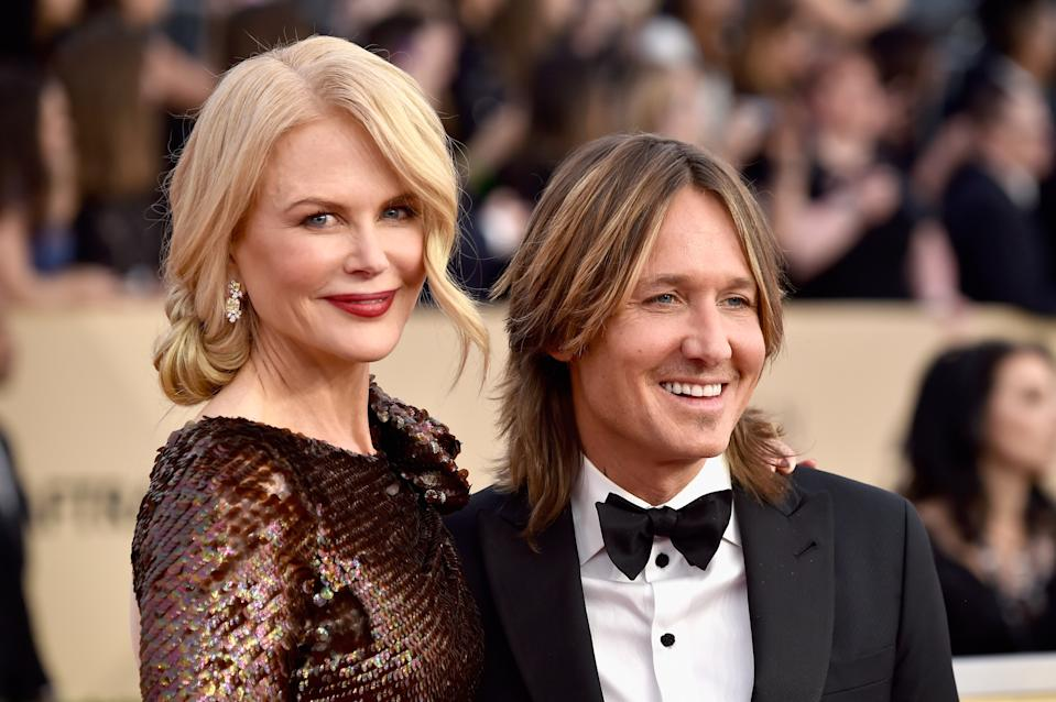 Nicole Kidman and Keith Urban at the 24th Annual Screen ActorsGuild Awards at The Shrine Auditorium on January 21, 2018 in Los Angeles, California.