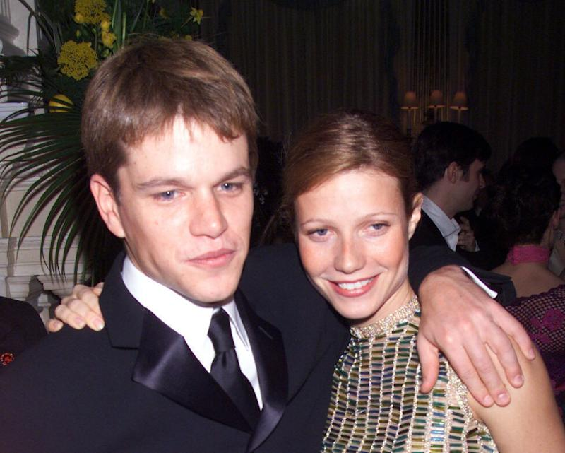 Matt Damon and Gwyneth Paltrow at the 'The Talented Mr Ripley' premiere in 2000.