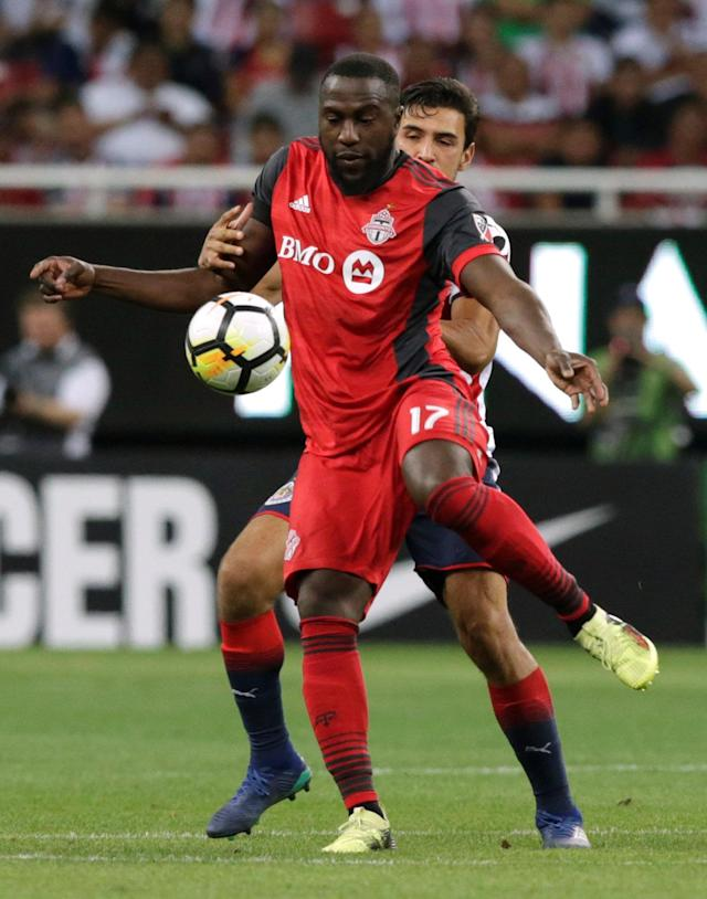 Soccer Football - CONCACAF Champions League Final Second Leg - Guadalajara vs Toronto FC - Estadio Akron, Guadalajara, Mexico - April 25, 2018 Toronto's Jozy Altidore in action REUTERS/Henry Romero