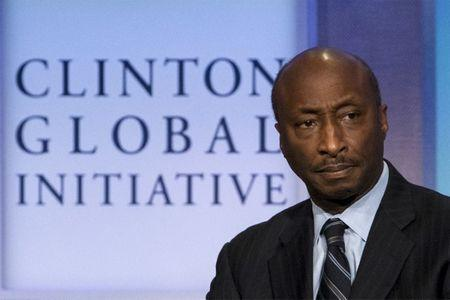 Chairman and CEO of Merck & Co., Kenneth Frazier, takes part in a panel discussion during the Clinton Global Initiative's annual meeting in New York, September 27, 2015.  REUTERS/Brendan McDermid