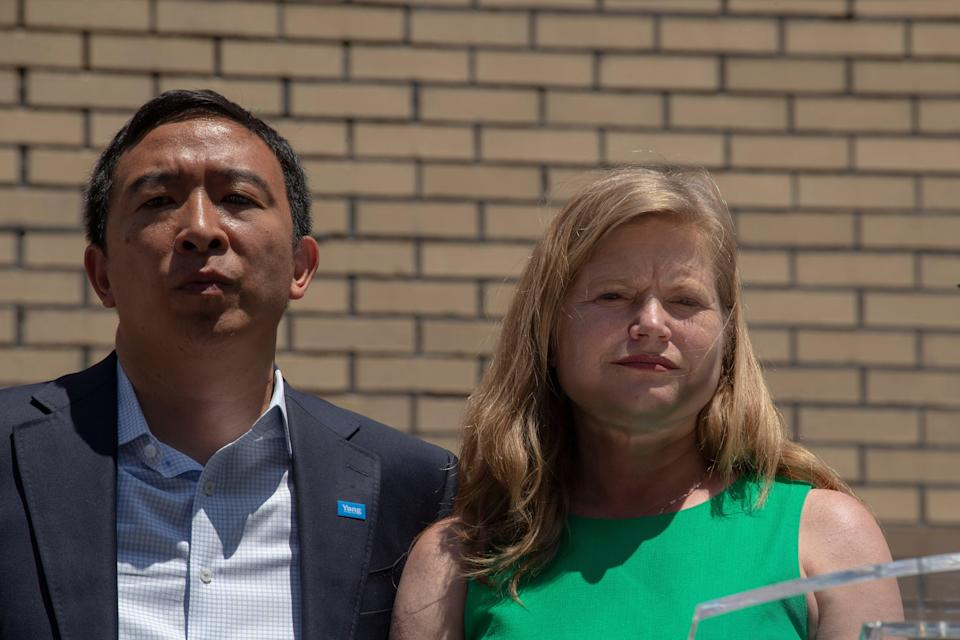 Andrew Yang and Kathryn Garcia campaign together (Getty Images)