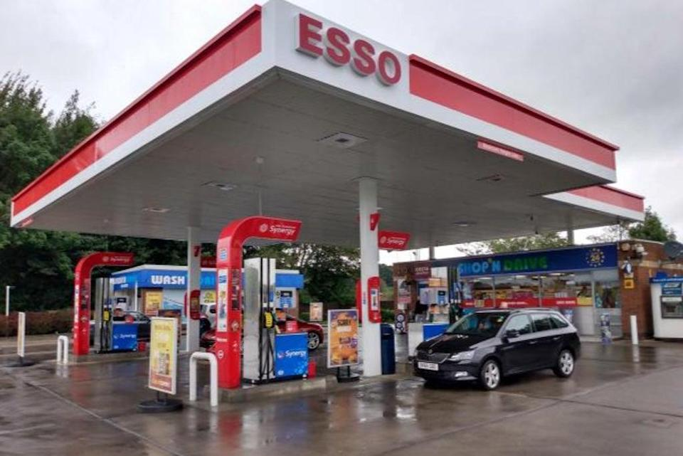 Thomas Mallaby, 40, was assaulted at the Esso fuel station in Annfield Plain, Co Durham (Google)