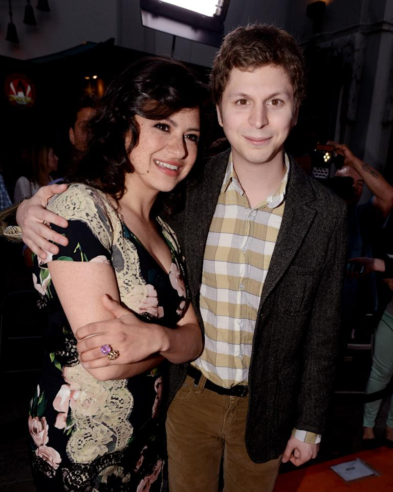 "LOS ANGELES, CA - APRIL 29:  Actors Alia Shawkat (L) and Michael Cera arrive at the premiere of Netflix's ""Arrested Development"" Season 4 at the Chinese Theatre on April 29, 2013 in Los Angeles, California.  (Photo by Kevin Winter/Getty Images)"