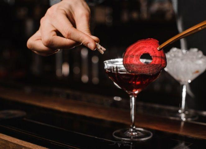 <p><strong>Ingredients</strong></p><p>1.5 oz Bombay Sapphire<br>.5 oz beet juice <br>.5 oz cranberry juice<br>.5 oz lemon juice<br>1 oz St Germain Elderflower Liqueur</p><p><strong>Instructions</strong></p><p>Mix all ingredients in a shaker tin and shake with ice. Pour over fresh ice in a rocks glass or serve up in a martini glass.</p>