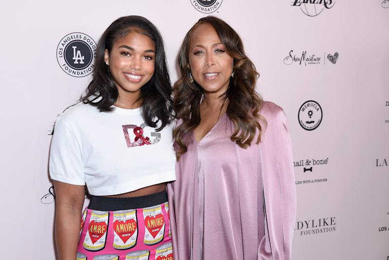 Lori Harvey and mom Marjorie Elaine Harvey attend The LadyLike Foundation Women Of Excellence Luncheon on May 11, 2019 in Beverly Hills, Calif.