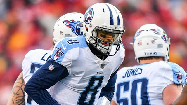 Marcus Mariota left the Tennessee Titans' season opener with an elbow injury, but practiced on Wednesday.