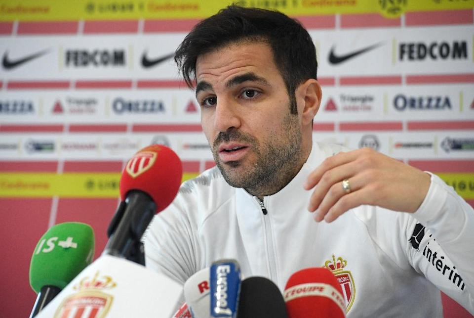 Cesc Fabregas moved to Monaco earlier this month to team up with his old colleague Thierry Henry (AFP Photo/Fred TANNEAU)