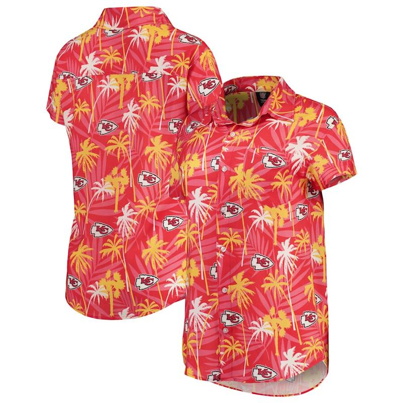Chiefs Floral Button-Up Shirt