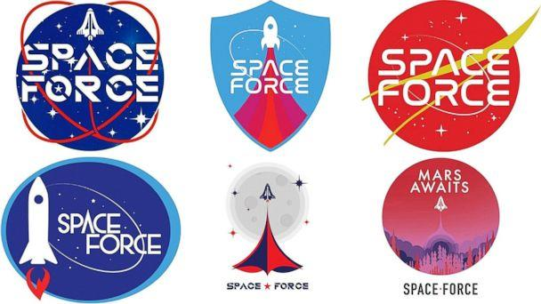 PHOTO: Logos for the new Space Force were released by the Trump campaign to supporters to vote for their favorite, Aug. 9, 2018. (Trump Campaign)