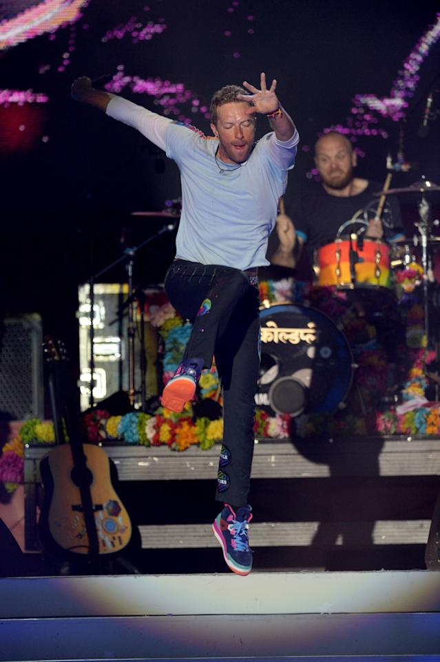 <p>No. 8: Coldplay<br /> Earning $88 million over the last year, the British band (frontman Chris Martin pictured) made over $5 million per city on every stop of their Head Full of Dreams tour.<br /> (Shutterstock) </p>