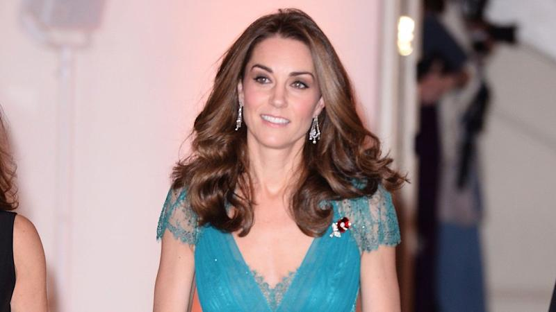 Kate Middleton Is a Vision in 6-Year-Old Recycled Blue Gown