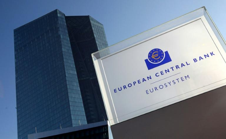 The European Central Bank (ECB) is based in Frankfurt, western Germany