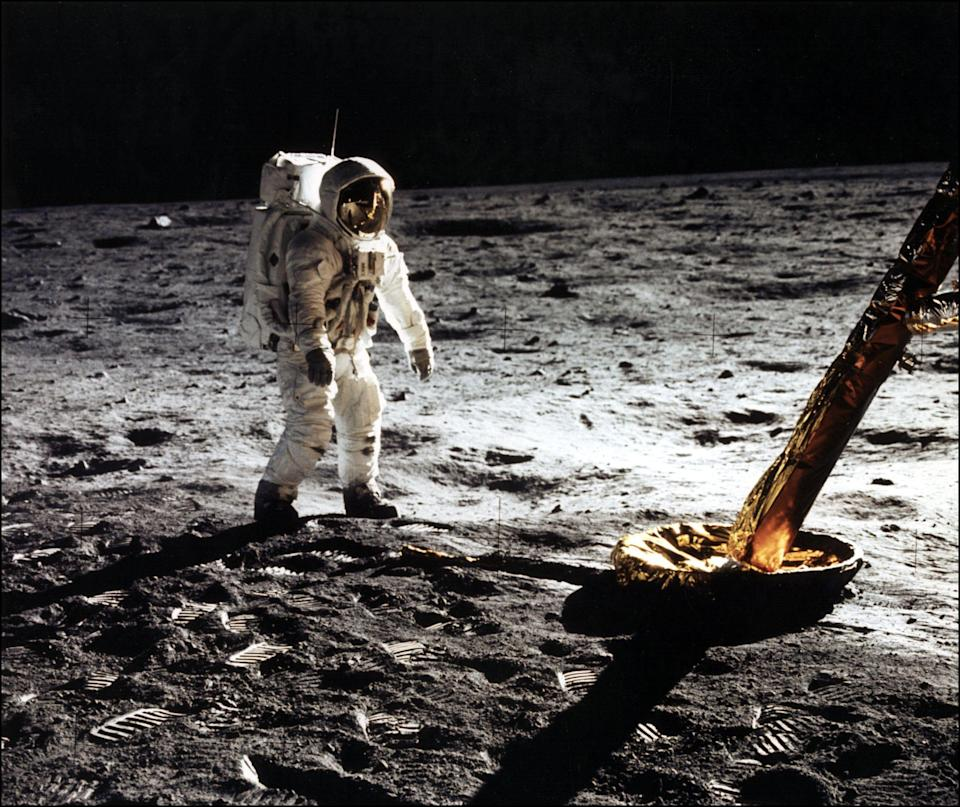 Buzz Aldrin walking on the moon in 1969 (AFP via Getty Images)