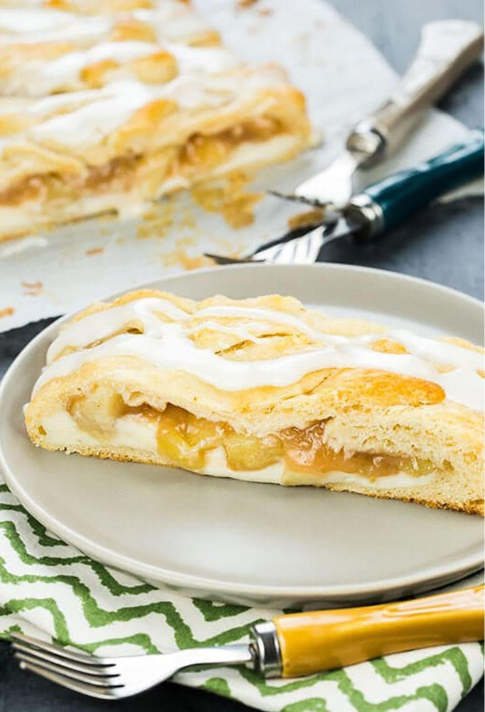"<p>This danish makes for a sweet breakfast treat. </p><p><strong>Get the recipe at <a href=""https://www.garnishwithlemon.com/easy-apple-cream-cheese-danish/"" rel=""nofollow noopener"" target=""_blank"" data-ylk=""slk:Garnish With Lemon"" class=""link rapid-noclick-resp"">Garnish With Lemon</a>. </strong></p>"