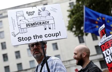 """""""Stop the Coup"""" rally in Whitehall"""