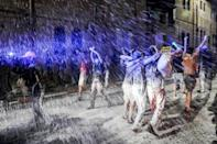 Israeli police fired water cannon to disperse thousands of protesters who had gathered in Jerusalem and Tel Aviv to register their fury