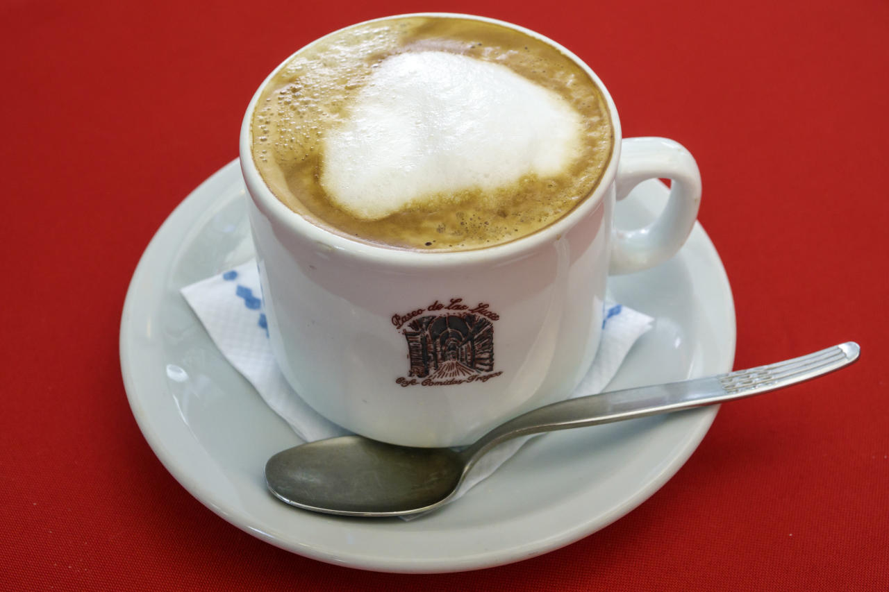 Price of cappuccino $1.90 (Rs 133)