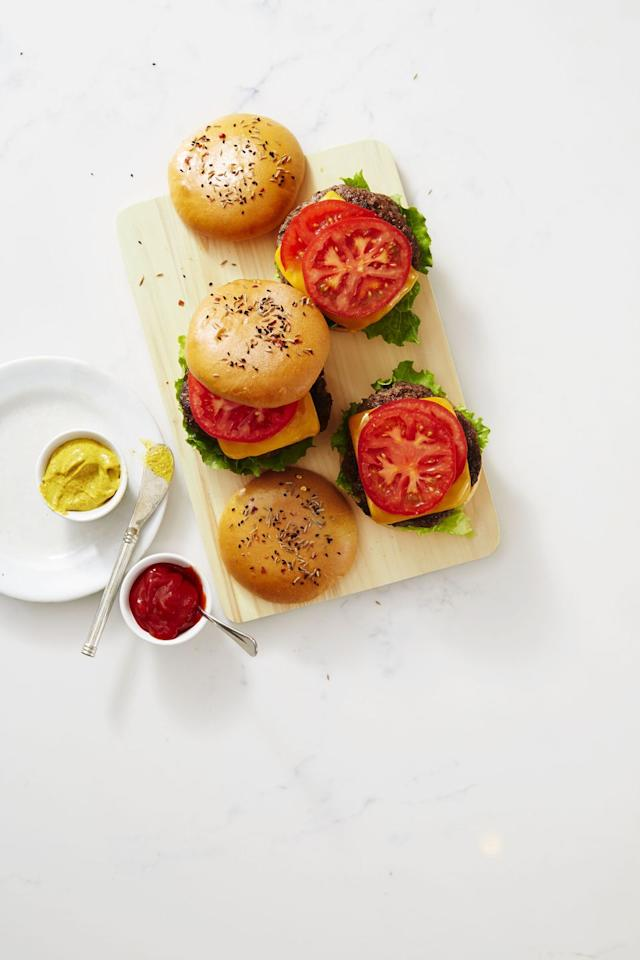 "<p>These half-veggie, half-beefy burgers get an extra dose of flavor from mushrooms. With cheese and all the fixin's, they might just be the new ultimate burger.</p><p><a href=""https://www.goodhousekeeping.com/food-recipes/a40926/beef-and-mushroom-burgers-recipe/"" target=""_blank""></a><em><a href=""https://www.goodhousekeeping.com/food-recipes/a40926/beef-and-mushroom-burgers-recipe/"" target=""_blank"">Get the recipe for Beef and Mushroom Burgers »</a></em></p><p><strong>RELATED: </strong><a href=""https://www.goodhousekeeping.com/food-recipes/easy/g3586/best-ground-beef-recipes/"" target=""_blank"">50 Easy Ground Beef Recipes for True Meat Lovers</a></p>"