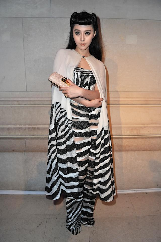 PARIS, FRANCE - MARCH 07:  Fan Bing Bing attends the 'Louis Vuitton - Marc Jacobs: The Exhibition' photocall as part of Paris Fashion Week at the Musee des Arts Decoratifs on March 7, 2012 in Paris, France.  (Photo by Pascal Le Segretain/Getty Images)