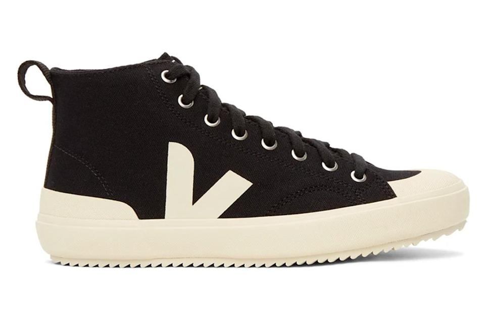 sneakers, high top, black white, veja